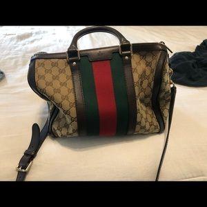 Gucci Monogram vintage Medium Boston Bag